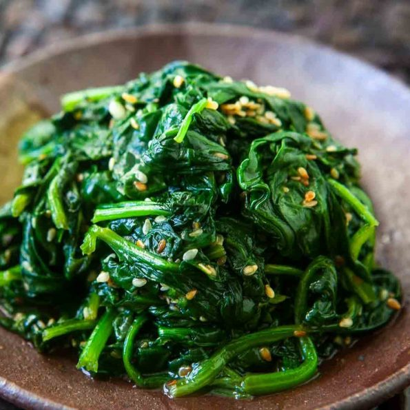 Garlic Stir-fry spinach (2)