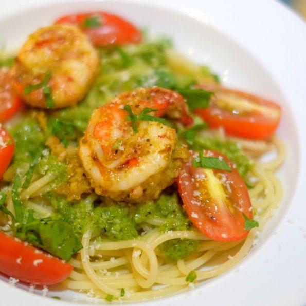Prawn Pesto pasta