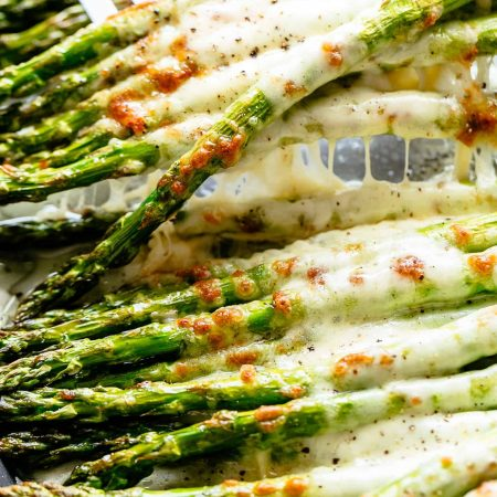 Asparagus - Cheesy-Garlic-Roasted-Asparagus-Santorino coffee & veggies