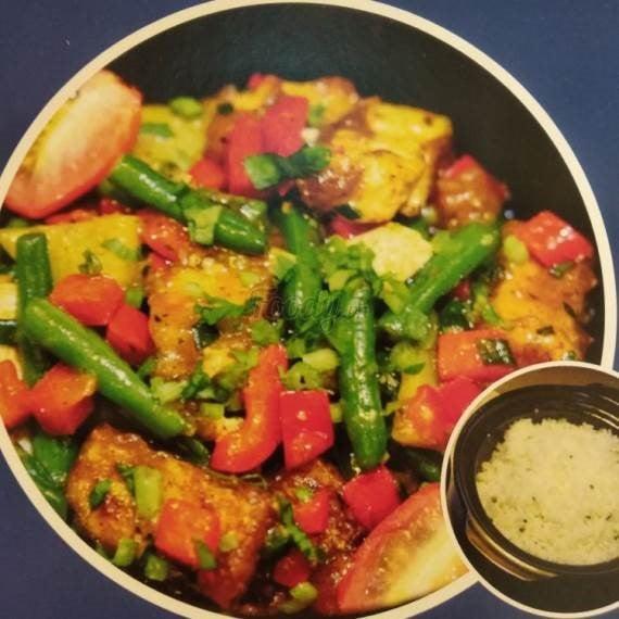 Lemongrass Tofu, Potato & Rice