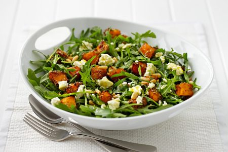 Santorino coffee & Veggies Healthy Lifestyles - Pumpkin and Rocket salad