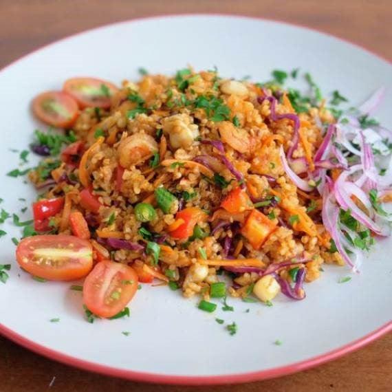 Seafood & Veggies Fried