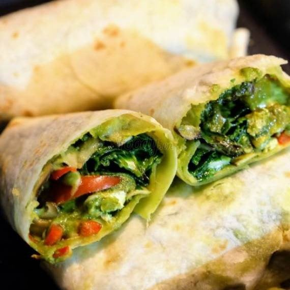 Spinach Pesto Cheese Tacos – Vegetarian