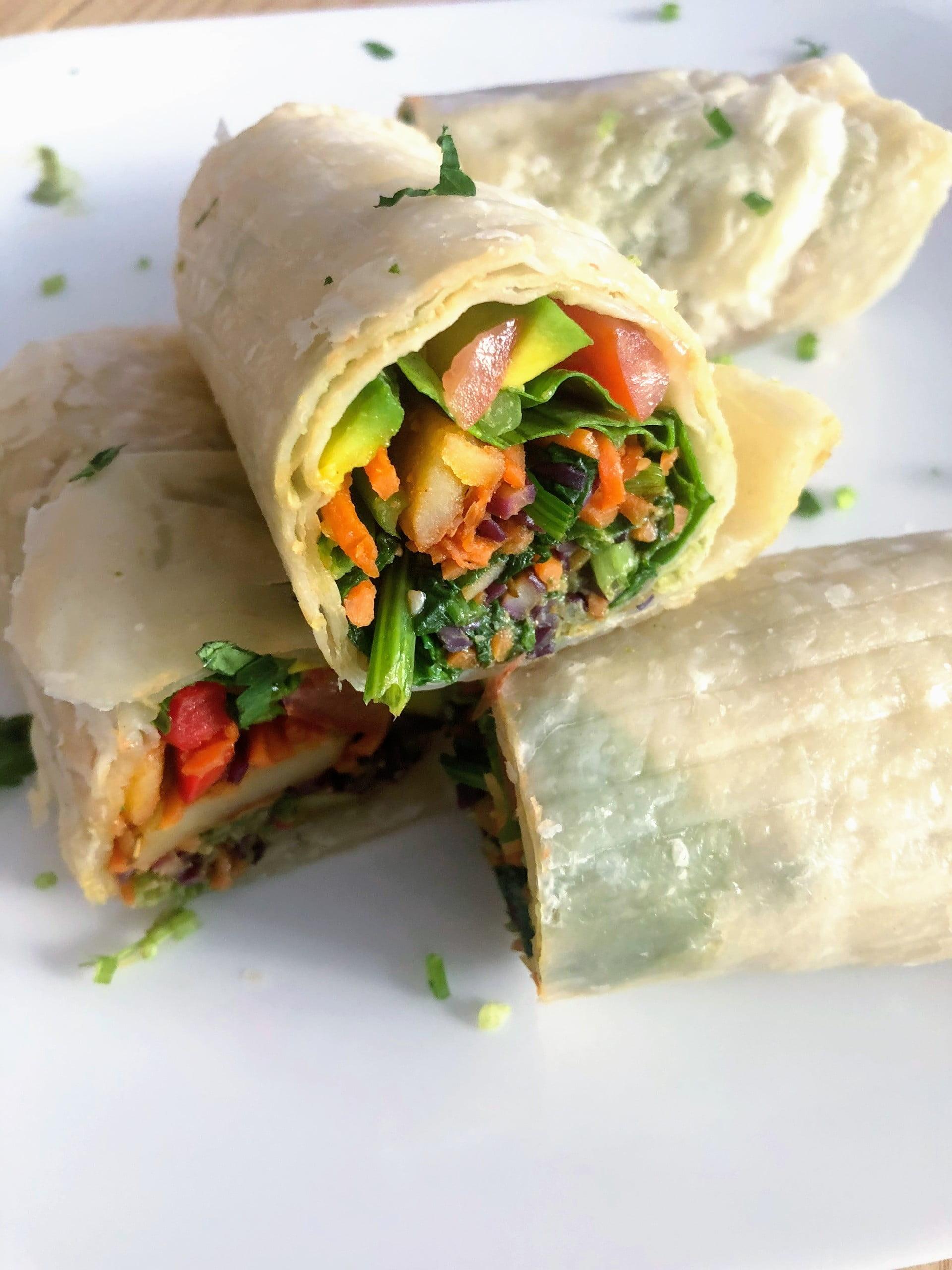 Veggie roti rolls