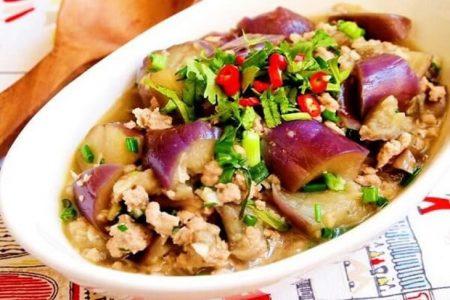 Công thức 2 cà tím xào thịt bằm -Santorino Coffee & Veggies