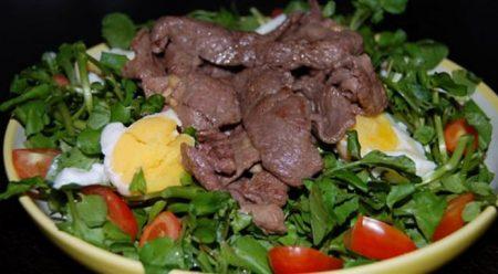 Xà lách xoong trộn thịt bò
