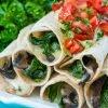 Cheesy mushroom baked flautas