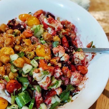 Root and raw mix salad - salad củ và quả