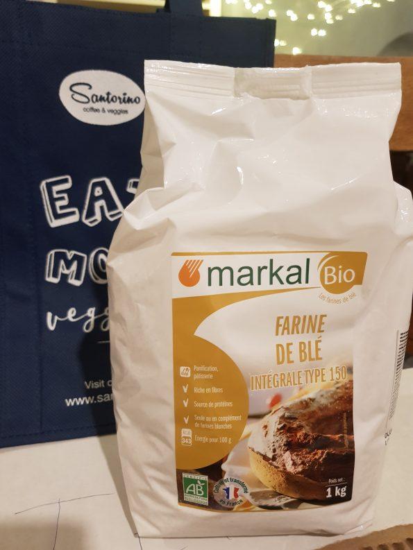 Bột mì nguyên cám hữu cơ 1kg