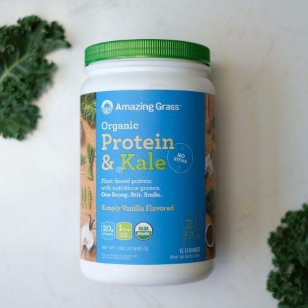 Bột Protein và cải xoăn