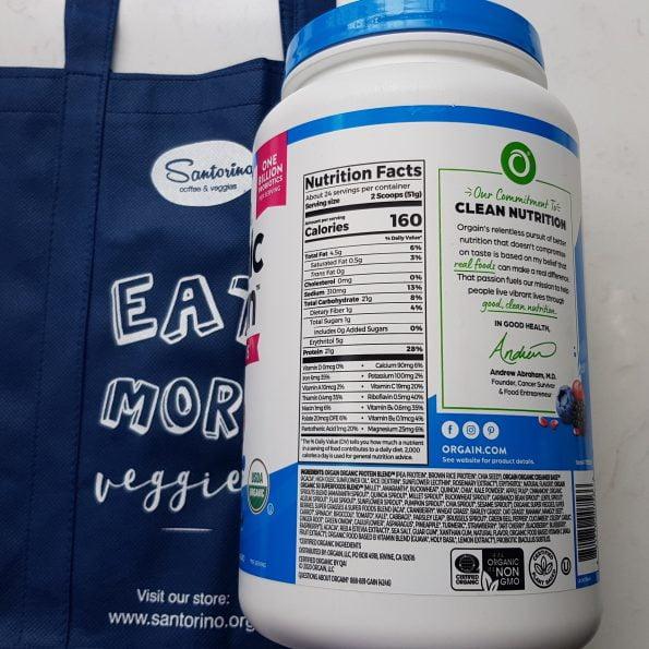 Bột đạm (protein) và rau củ hữu cơ Orgain Organic Protein & Probiotics – Vị Chocolate – Hũ 1242gr