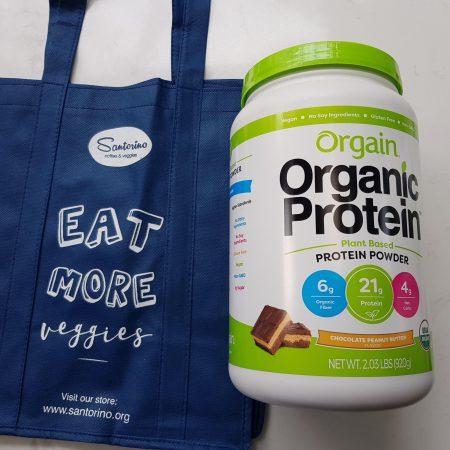 Bột đạm (protein) thực vật hữu cơ Orgain - 920gr - Vị peanut butter