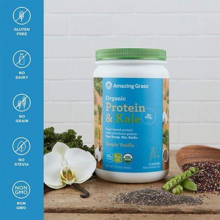 Bột protein & cải xoăn hữu cơ santorino
