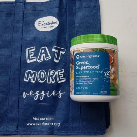 Bột siêu thực phẩm xanh Kiềm hóa và Thải độc Amazing Grass Alkalize & Detox - Hũ 240gr (30 lần)