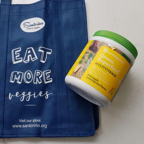 Bột siêu thực phẩm xanh bổ sung vitamin tổng hơp Amazing Grass Multivitamin - vị dứa sả - Hũ 240gr (30 lần)