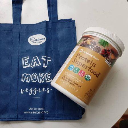 Bột đạm (protein) siêu thực phẩm Amazing grass - Vị chocolate bơ đậu phộng - Hũ 430g (15 lần)