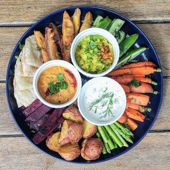 3-dip salad meal plan menu