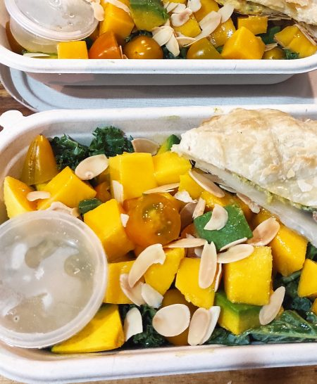 Kale sunrise vegan salad 1