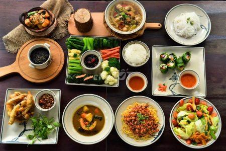 Vegetarian meal plan santorino
