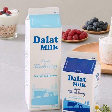 Dalat milk no sugar-sua-tuoi-dalat-milk-unsweeten